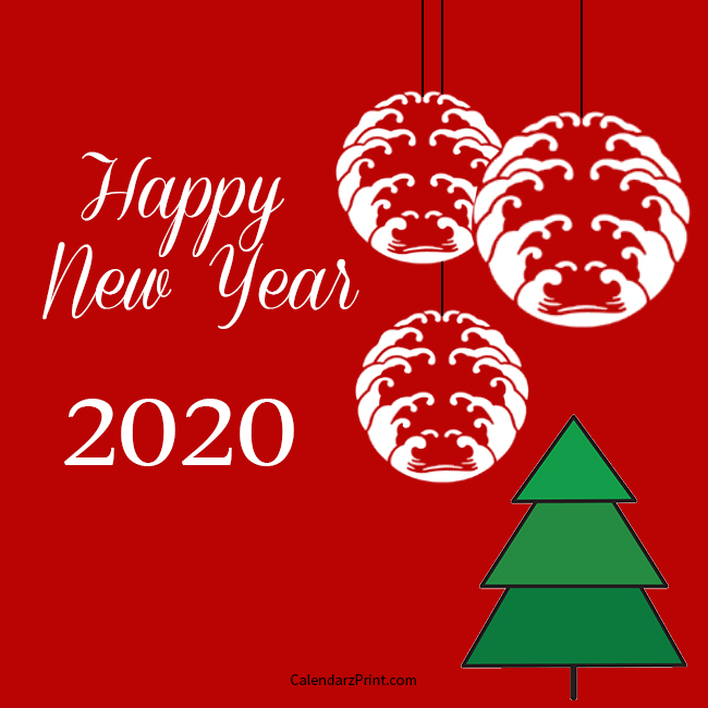 Free New Year Cards 2020 New Year Card 2020 – Printable Free New Year Cards – Pine Tree